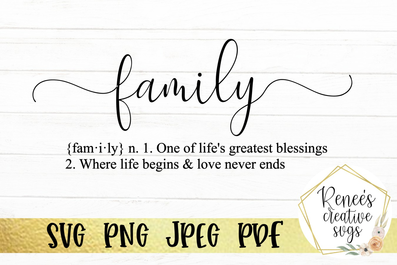 Definition of Family | Quote | SVG Cutting File example image 2