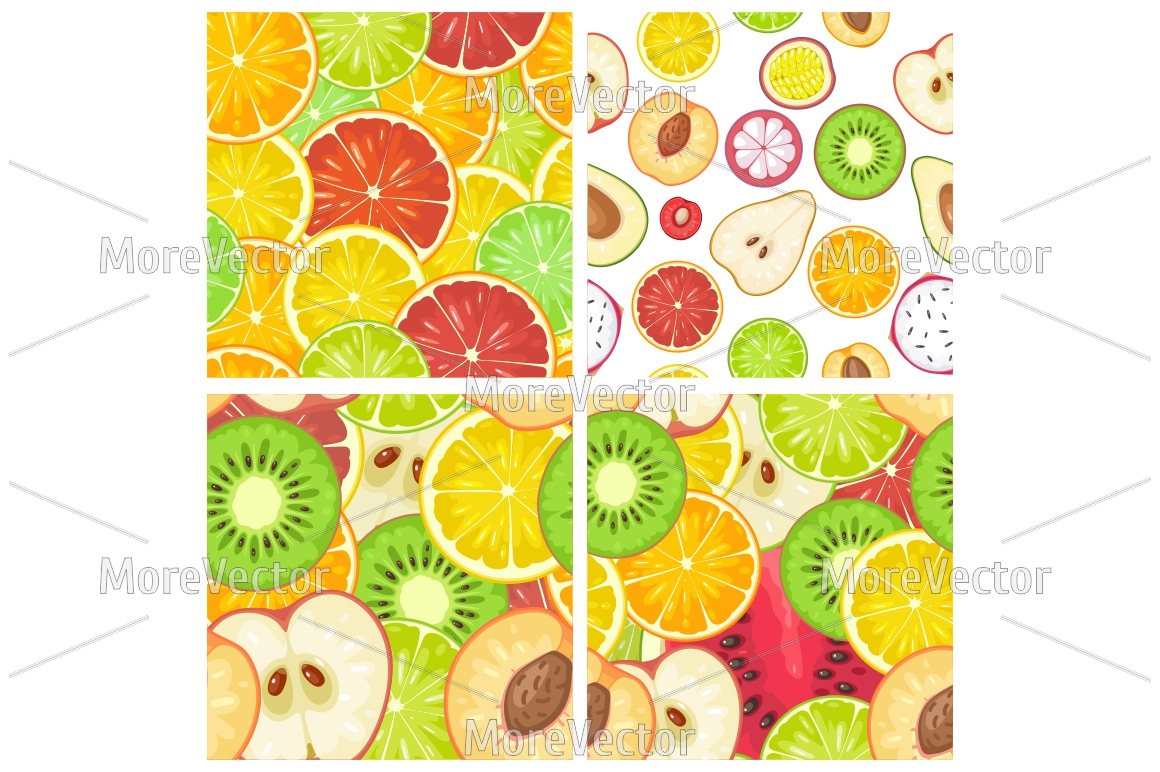Seamless pattern fruits.  example image 1