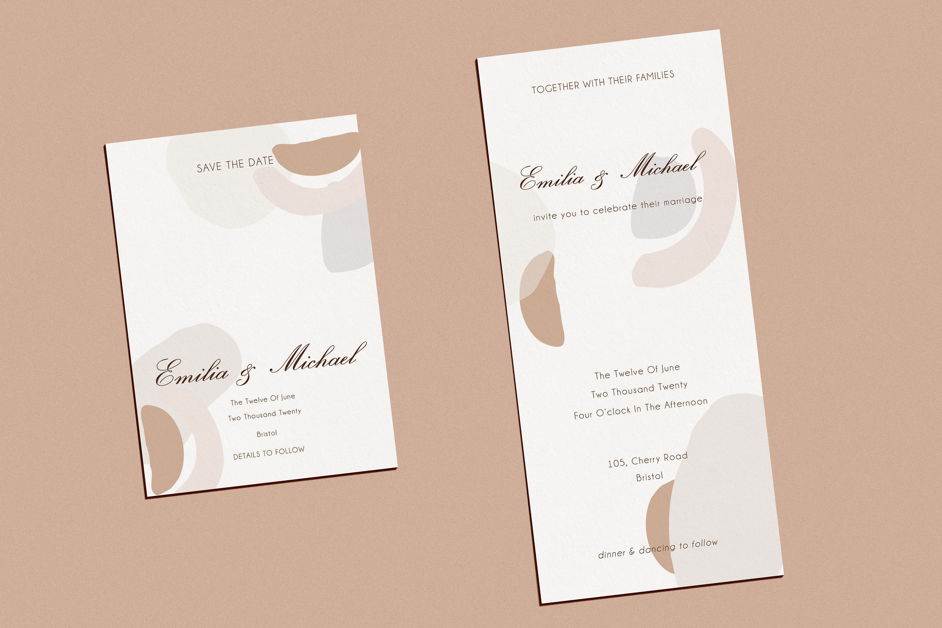 Abstract style Wedding Invitation Suite example image 4