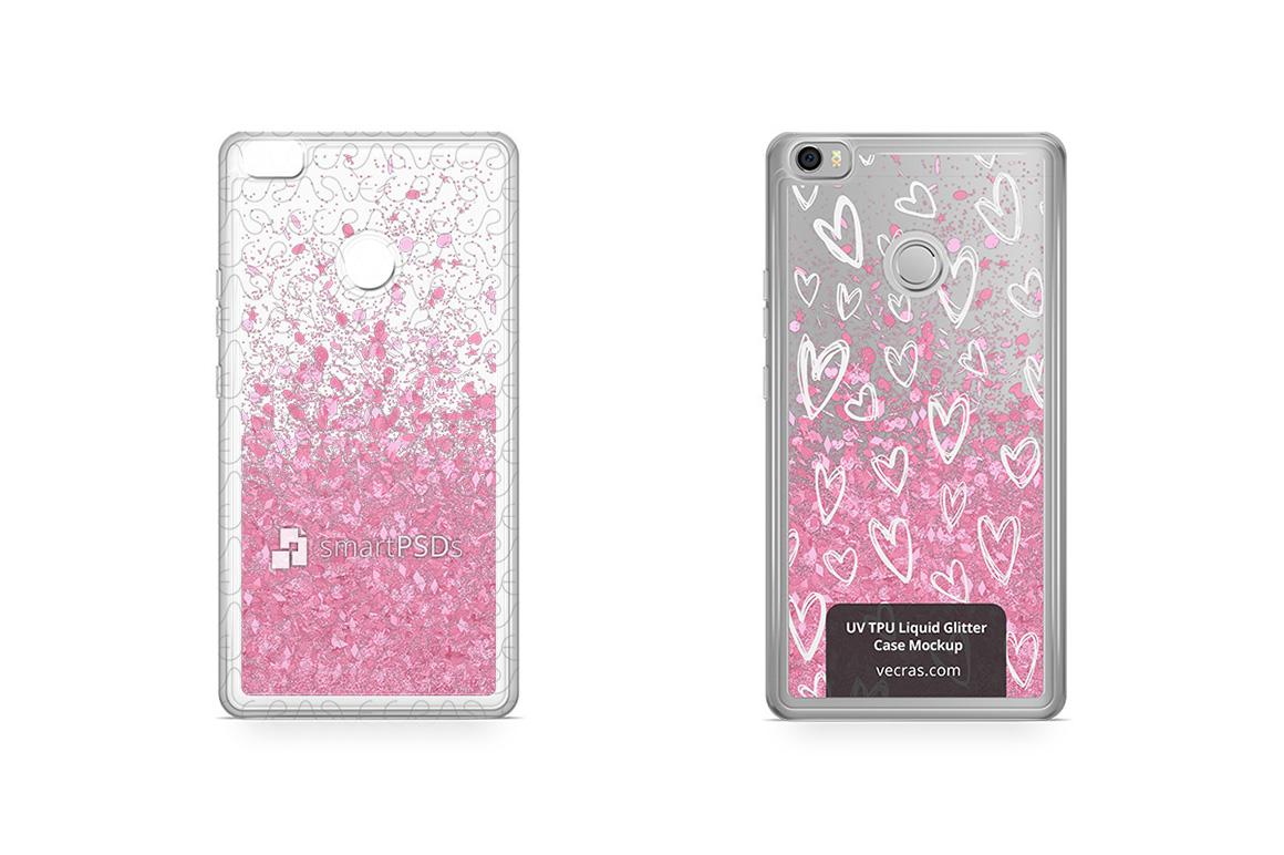 Xiaomi Mi Max UV TPU Liquid Glitter Case Design Mock-up example image 1