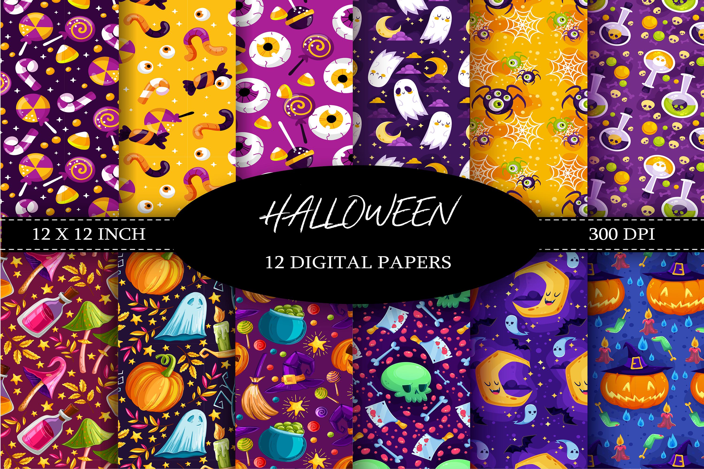Halloween Digital Paper example image 1
