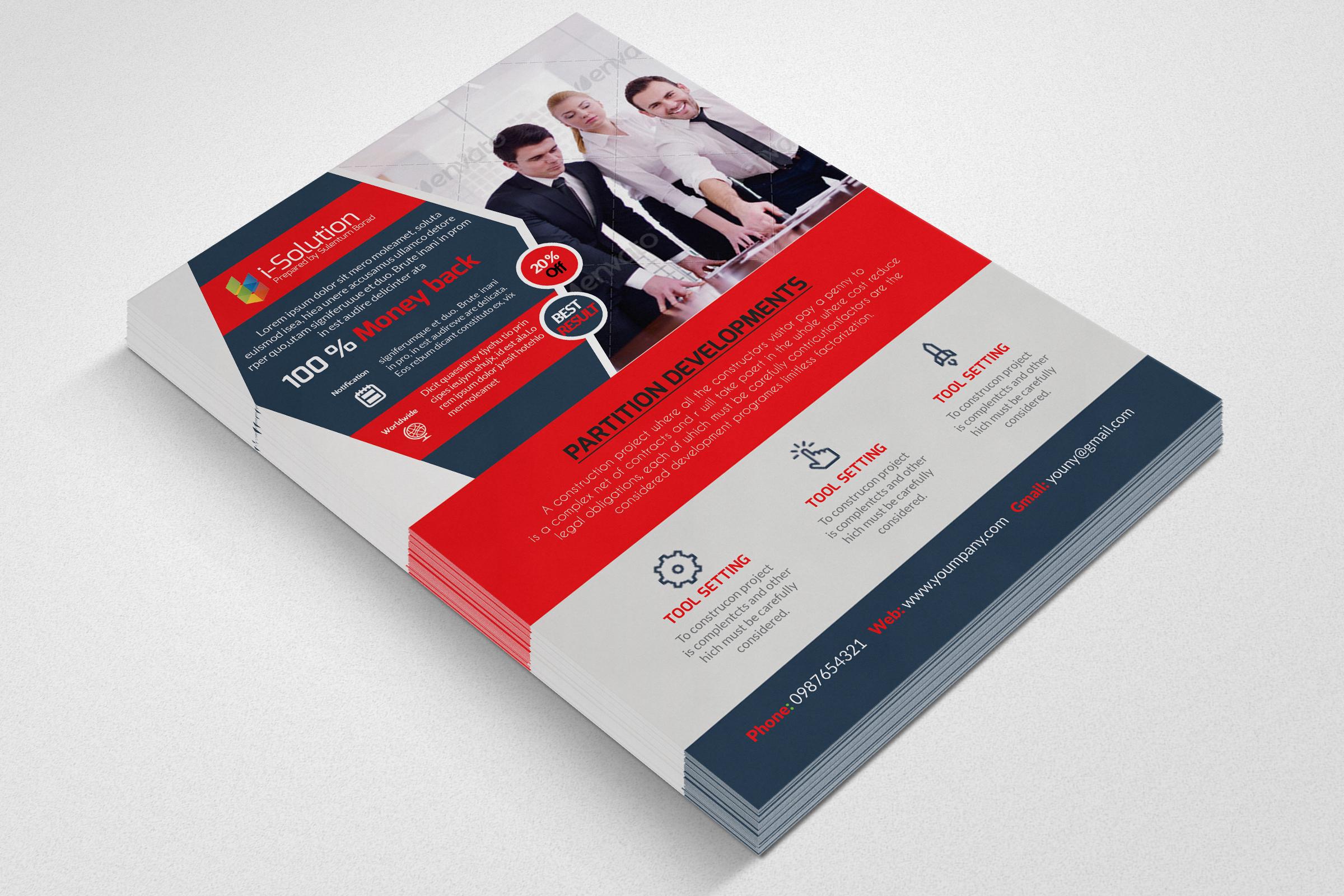 Business Marketing Management Flyers example image 2