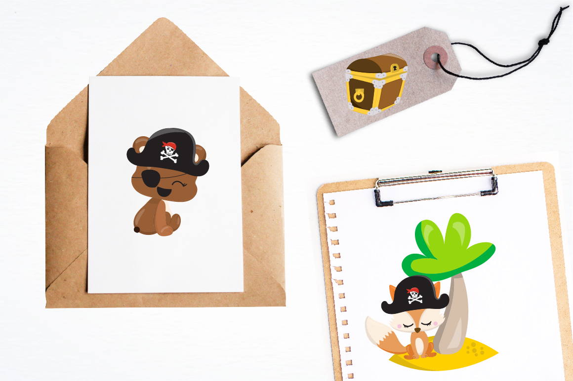 Pirate friends graphics and illustrations example image 4