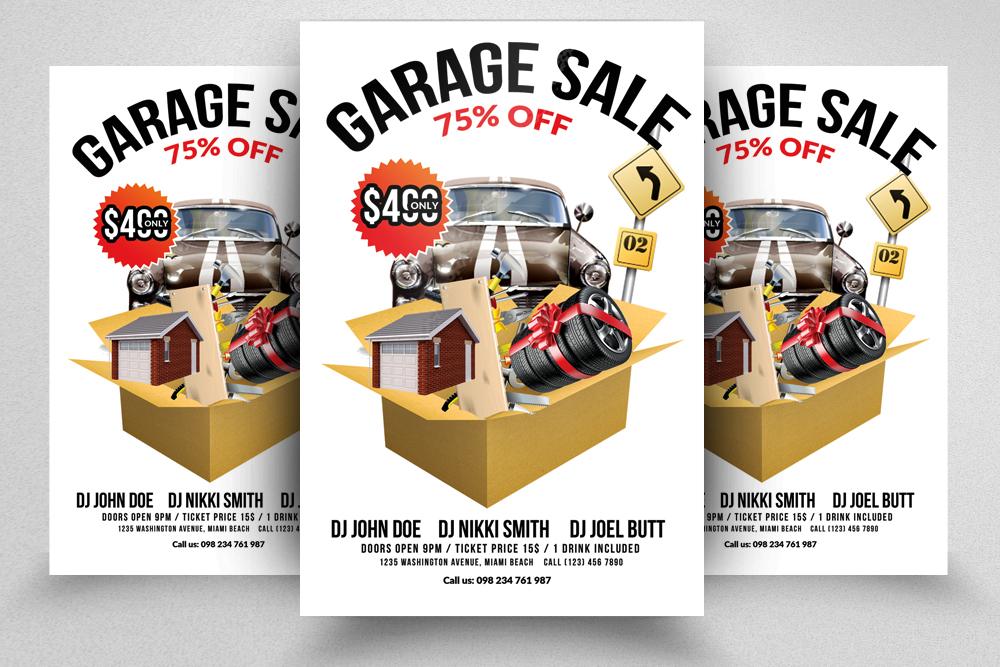 Garage Sale Flyer Print Templates example image 1