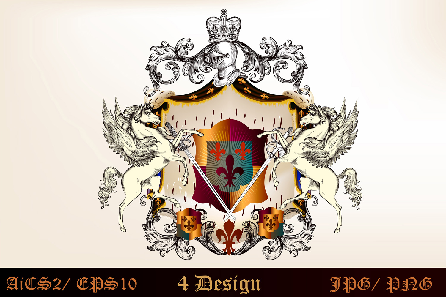 Heraldic bundle of detailed of shields  example image 3