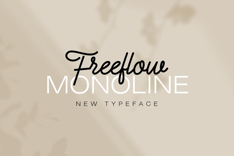 Freeflow Monoline Script example image 5