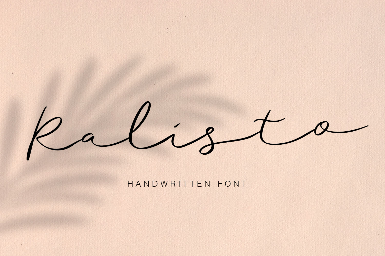 Ralisto Handwritten example image 1