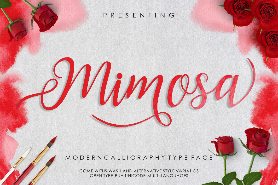 Mimosa Script example image 1