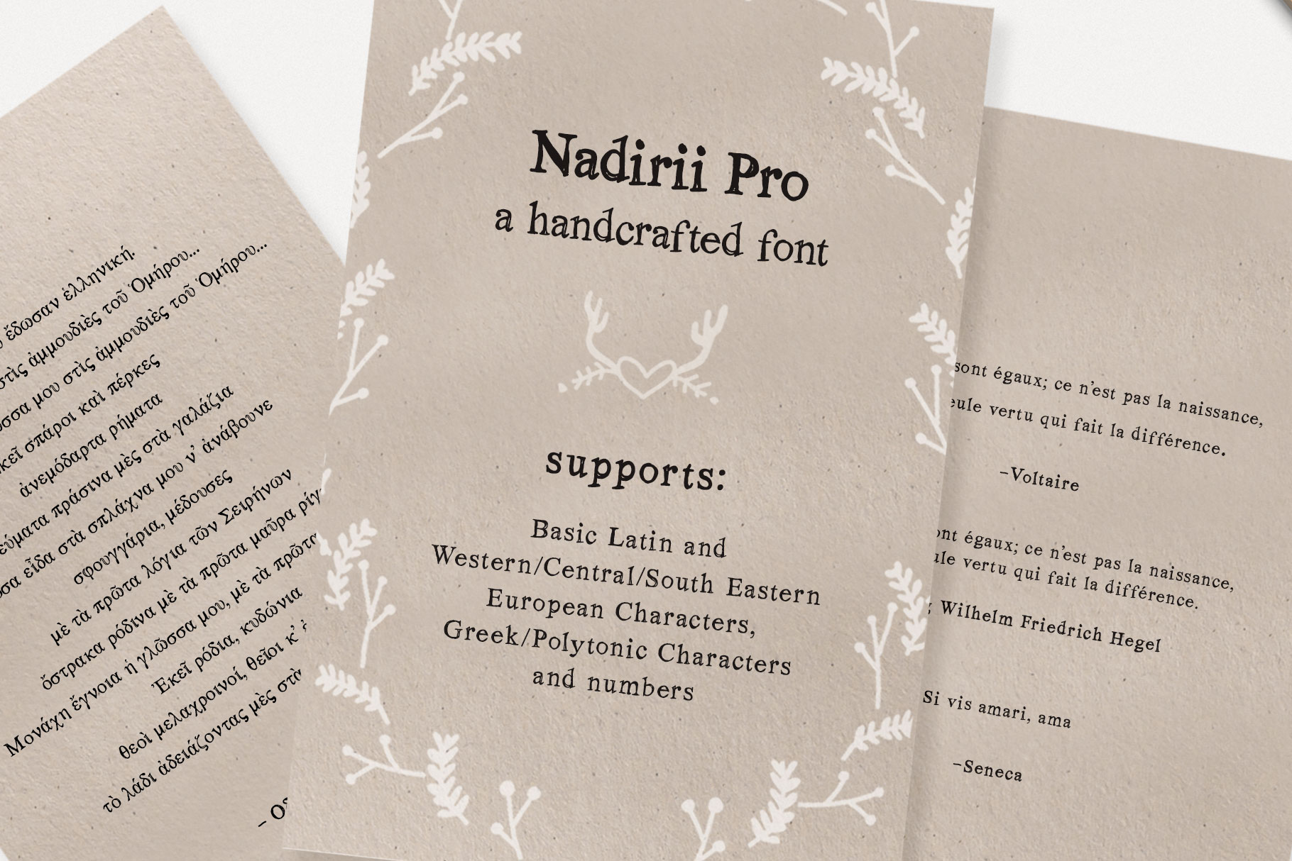 Nadirii Font | Handcrafted example image 3