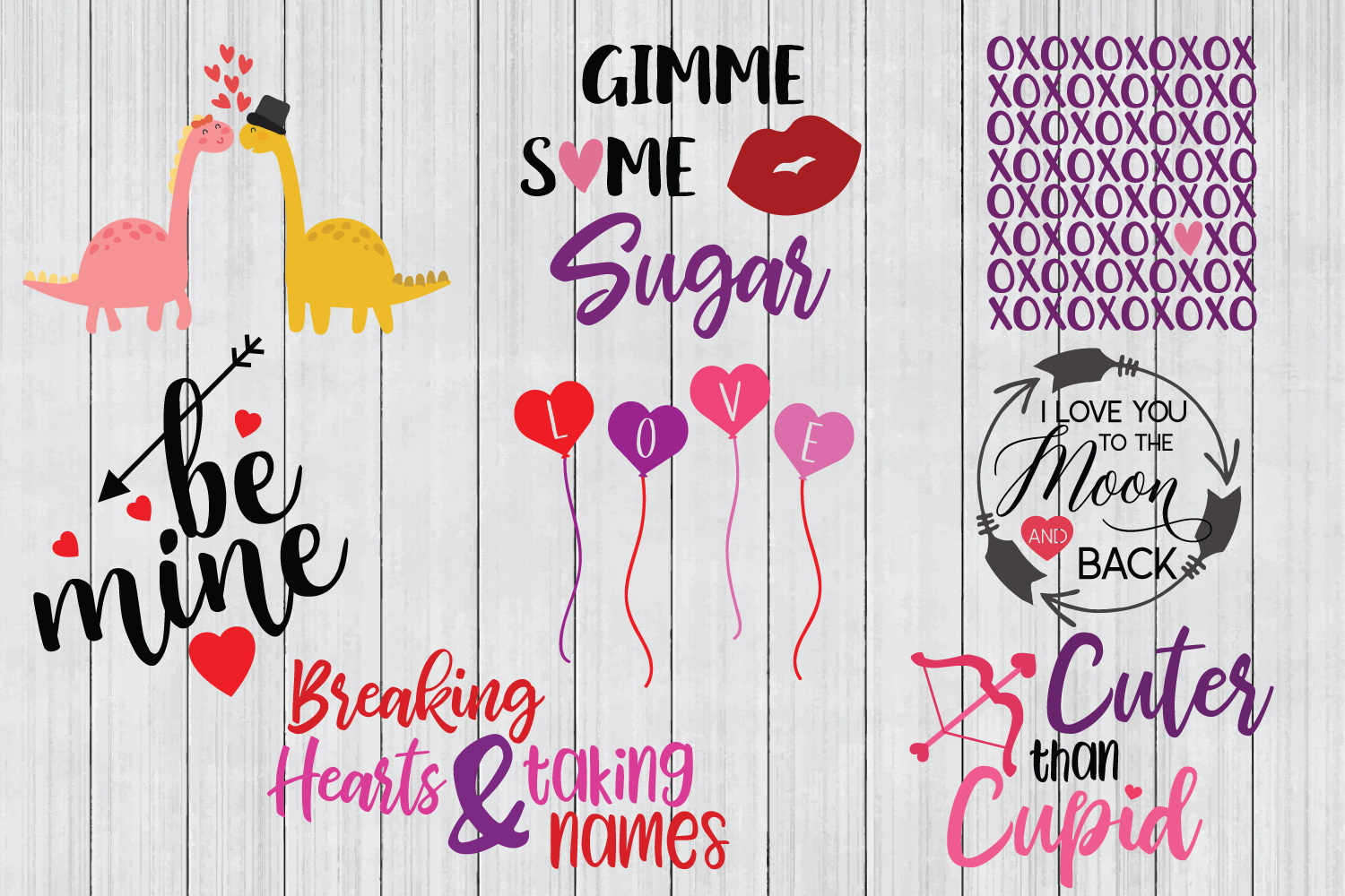 Valentine SVG Mega Bundle, Love SVG Bundle example image 2