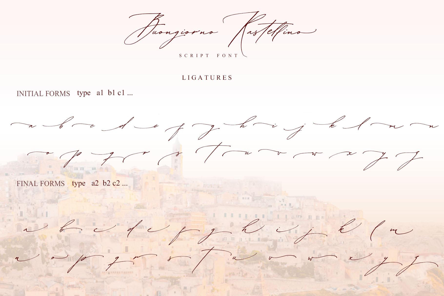 Buongiorno Rastellino script font example image 14