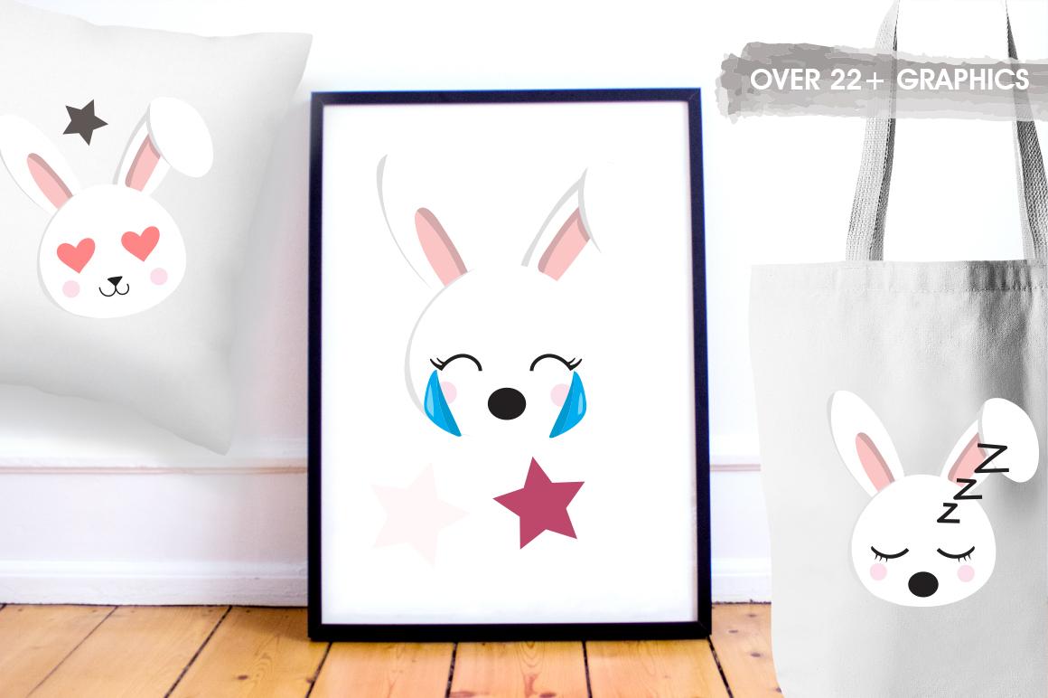 Rabbit Emoji graphic and illustrations example image 5