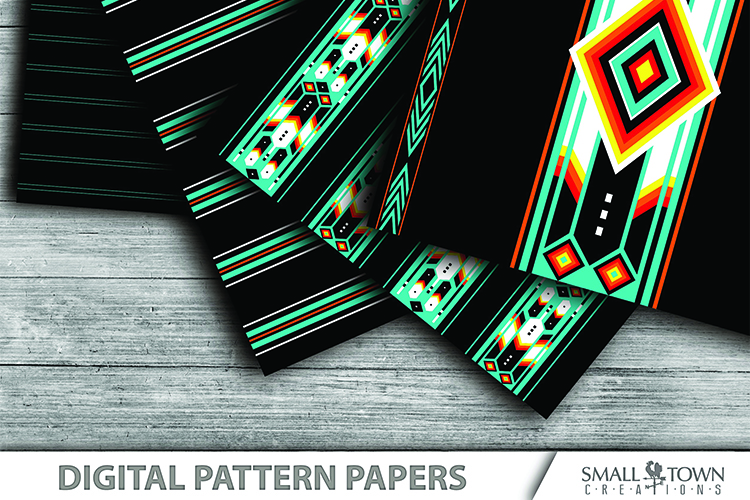 TRIBAL pattern, Aztec, Native American, PRINT, CUT & DESIGN example image 2