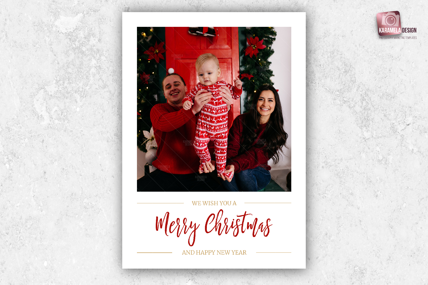 Christmas Photo Card Template example image 2