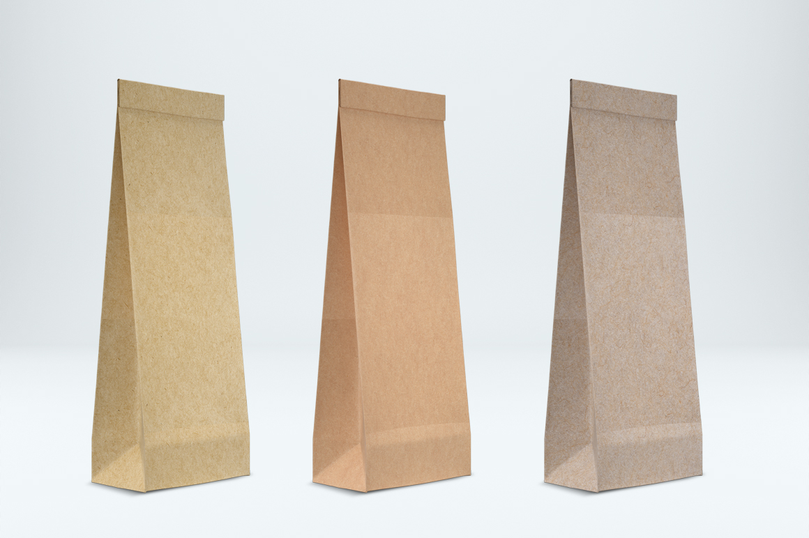 Craft paper pouch mockup. PSD mockup. PSD object mockup. example image 4