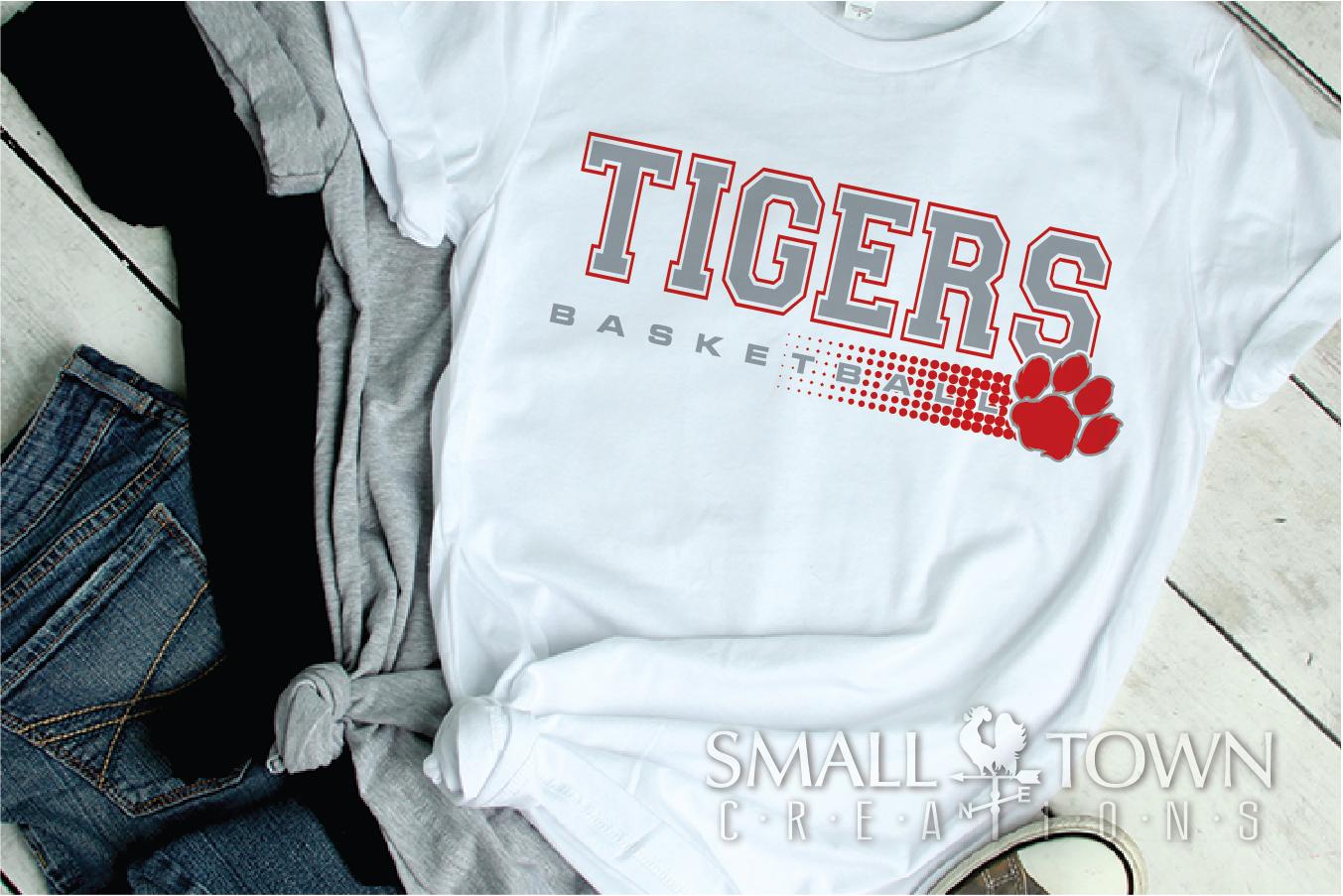 Tigers basketball, tiger mascot, team, PRINT, CUT, DESIGN example image 18