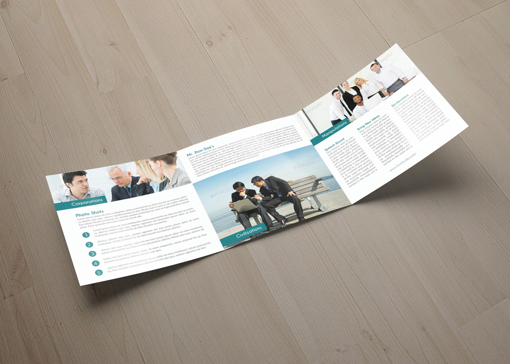 Employment Business Square Trifold Brochure example image 3