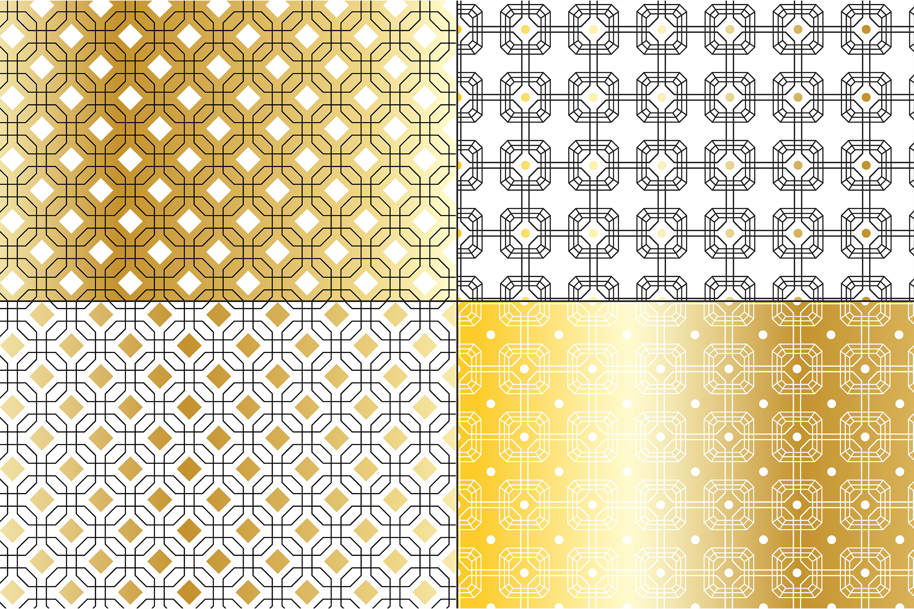 Gold Deco Patterns example image 5
