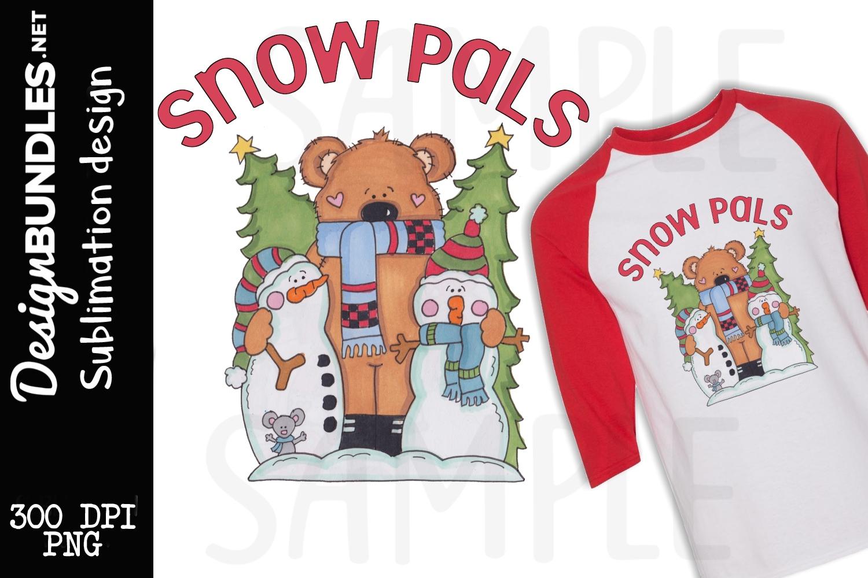 Snow Pals Sublimation Design example image 1
