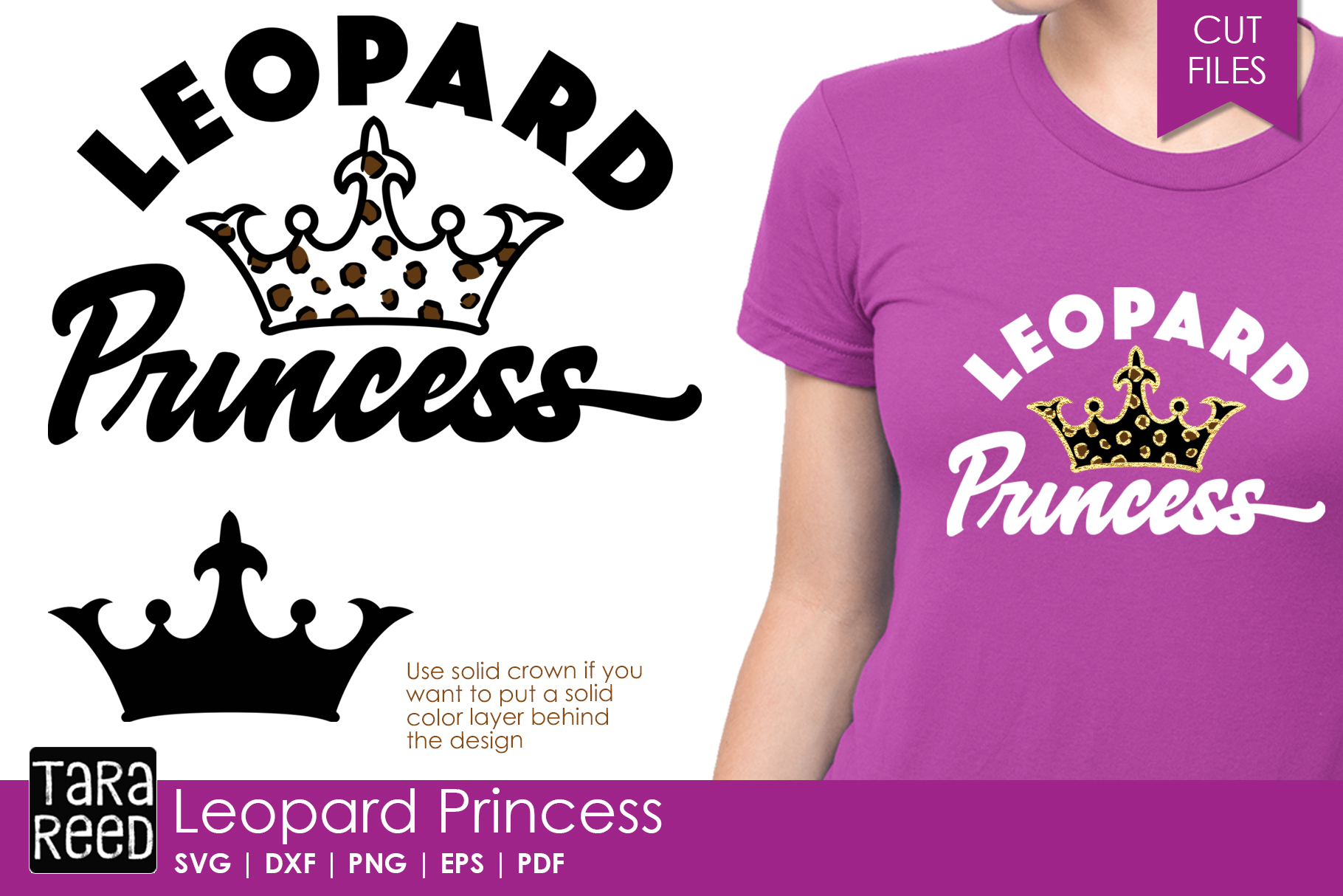 Leopard Princess - Leopard Print SVG and Cut Files example image 1