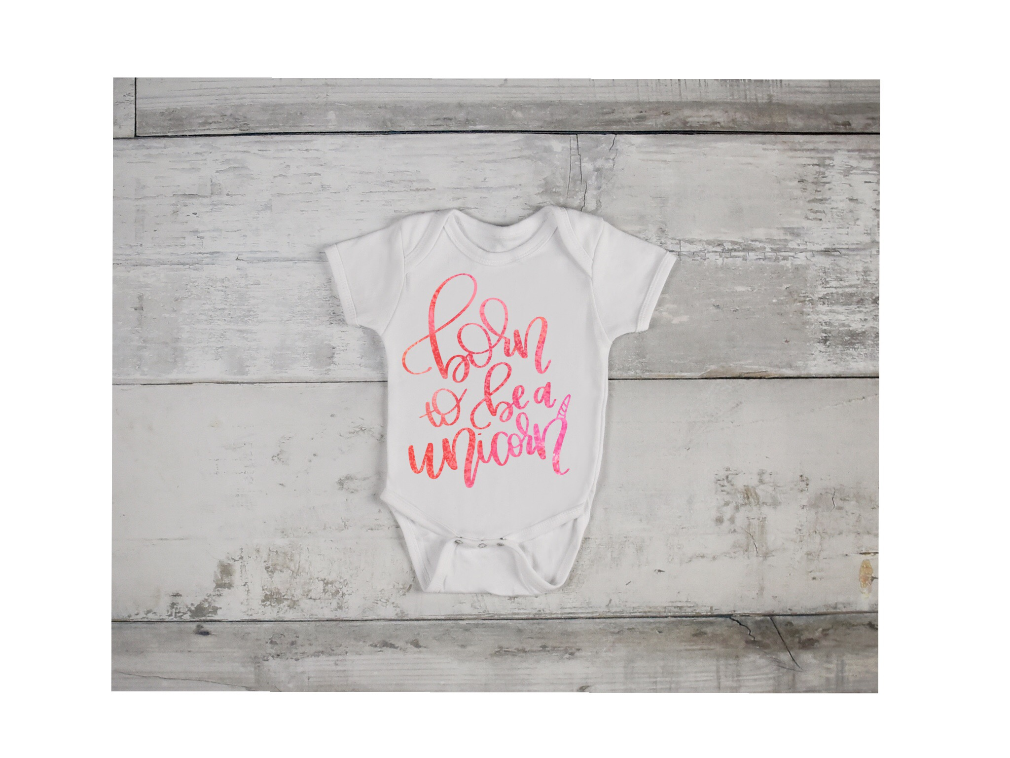 Born To Be A Unicorn - hand lettered SVG example image 1