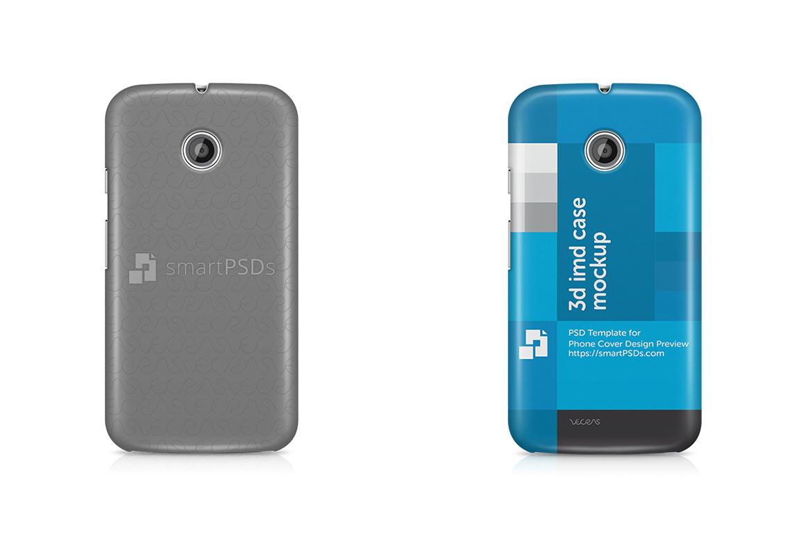 Motorola Moto E 3d IMD Mobile Case Design Mockup 2014 example image 1