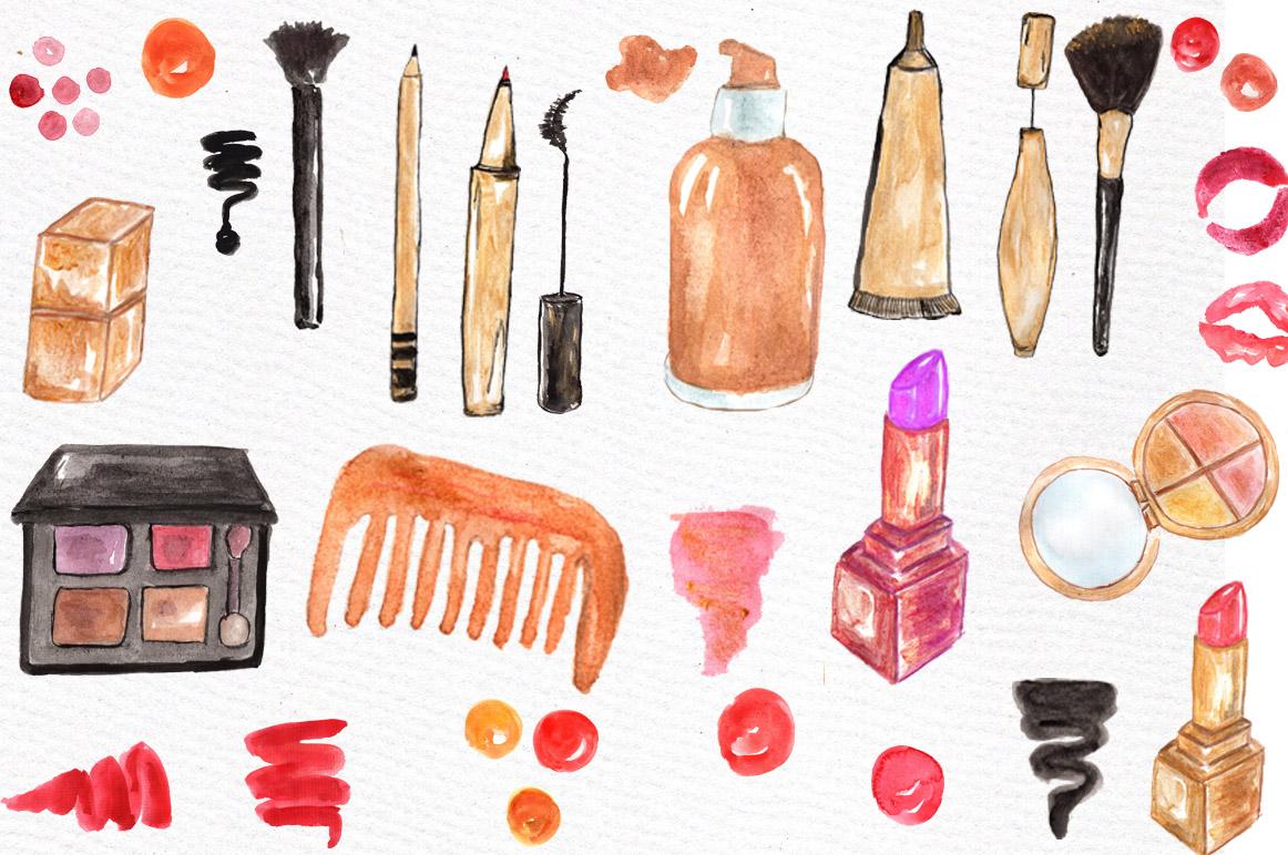 Watercolor makeup set example image 2