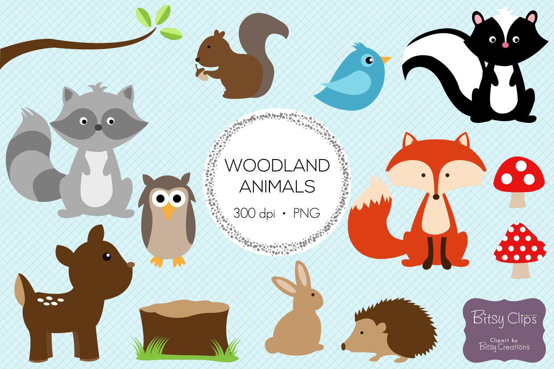 woodland animals digital art set clipar design bundles rh designbundles net cute forest animal clipart rainforest animal clipart