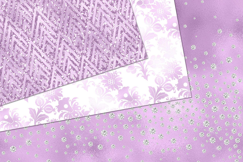 Glitzy Purple Digital Paper example image 3