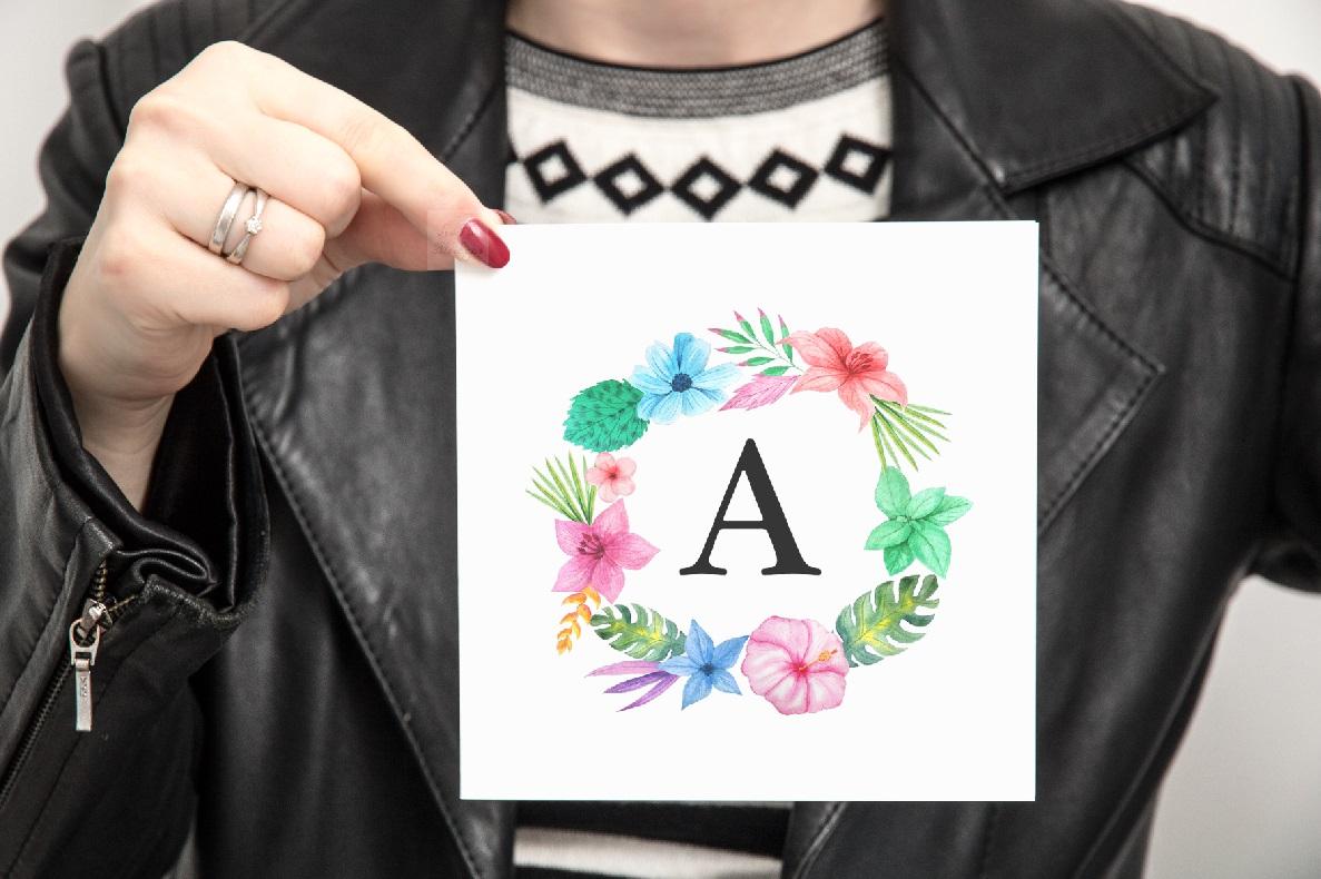 Woman Square Greeting Card Mockup psd invitation smart photo example image 5
