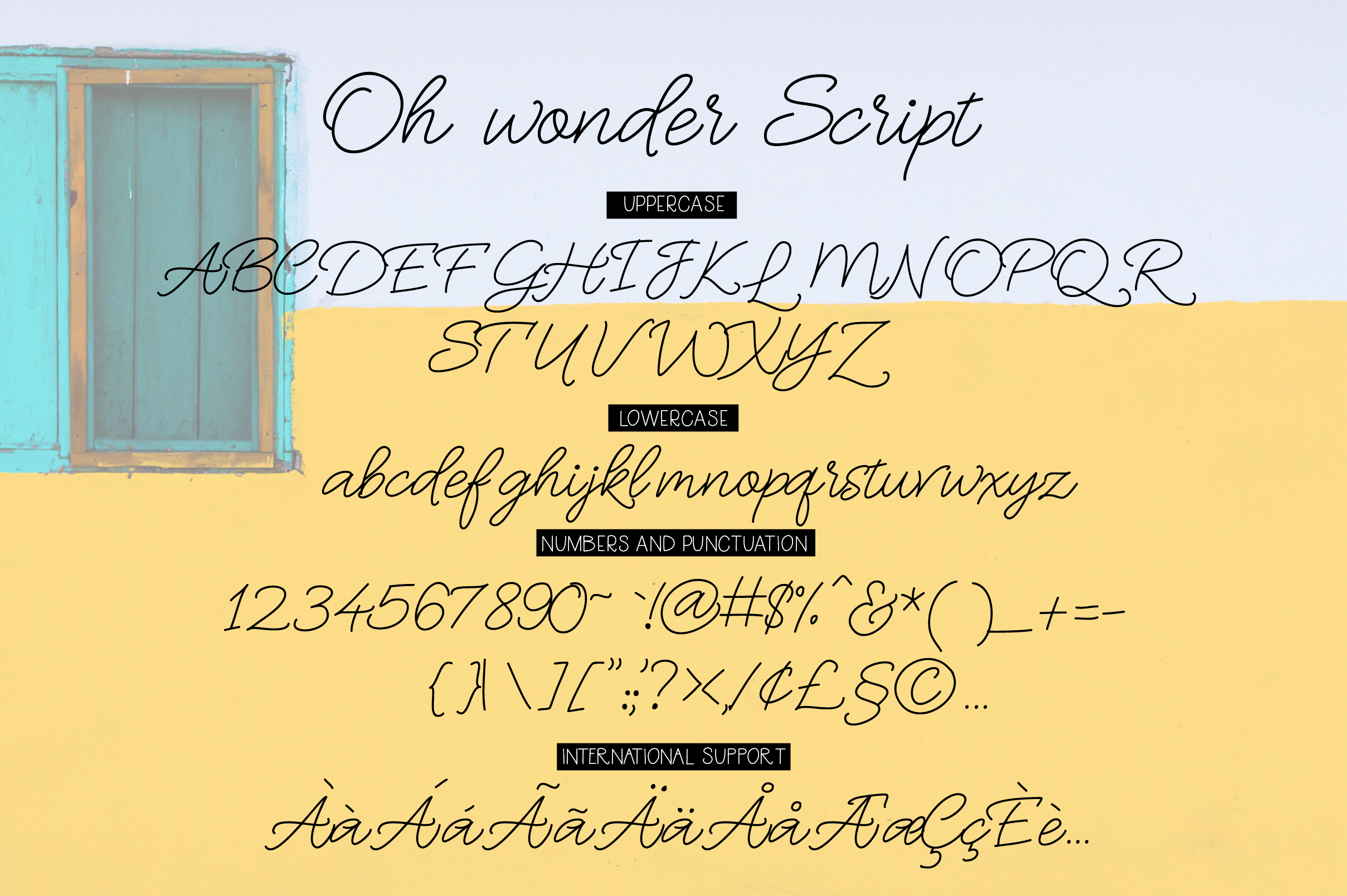 Oh Wonder Font Duo example image 9