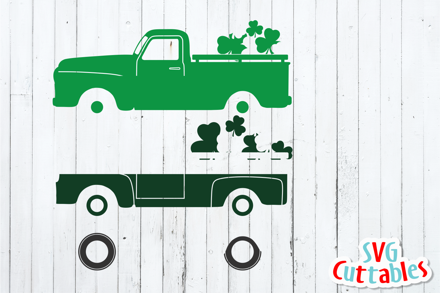 St. Patrick's Day Truck Cut File example image 3