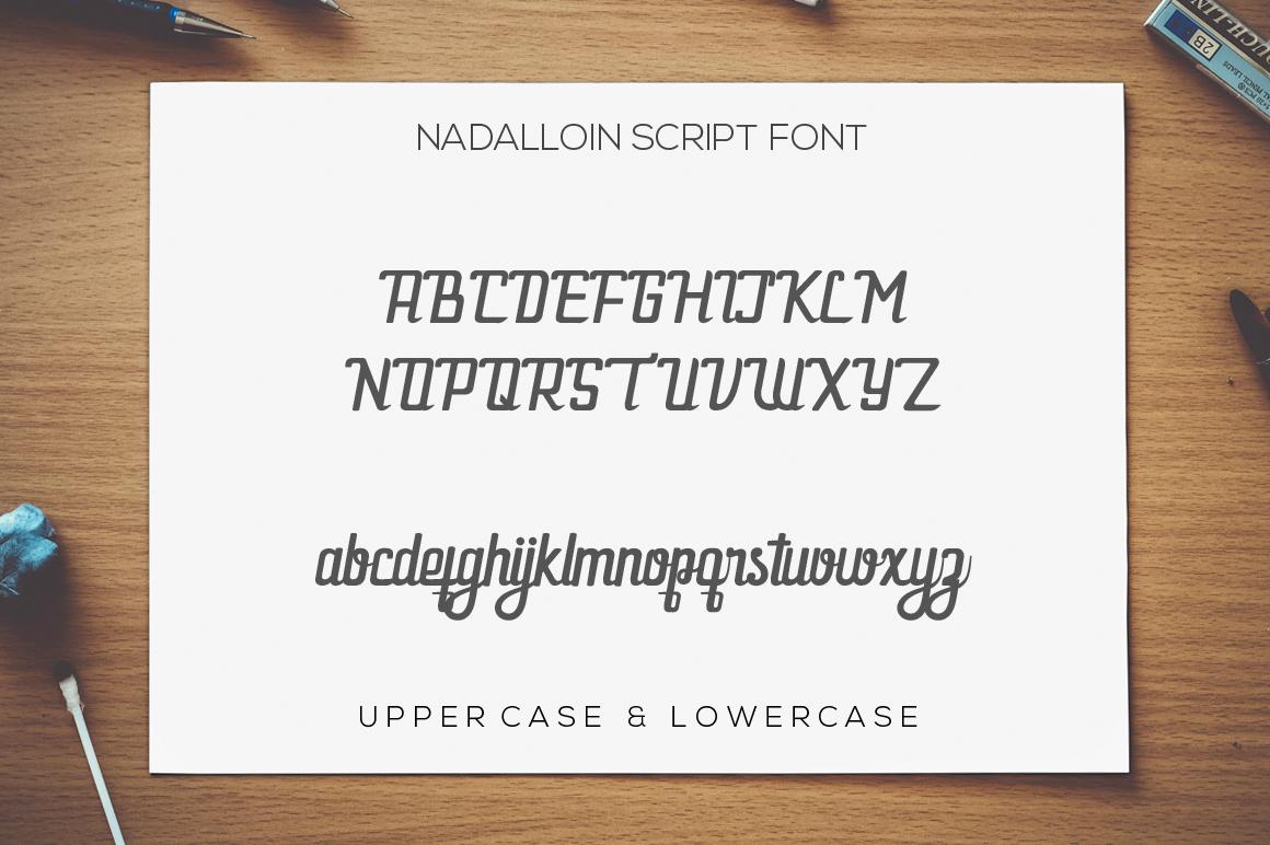 Nadalloin font example image 9