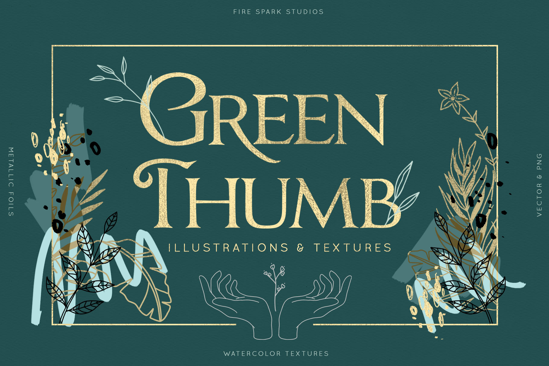 Green Thumb Illustrations & Textures example image 1