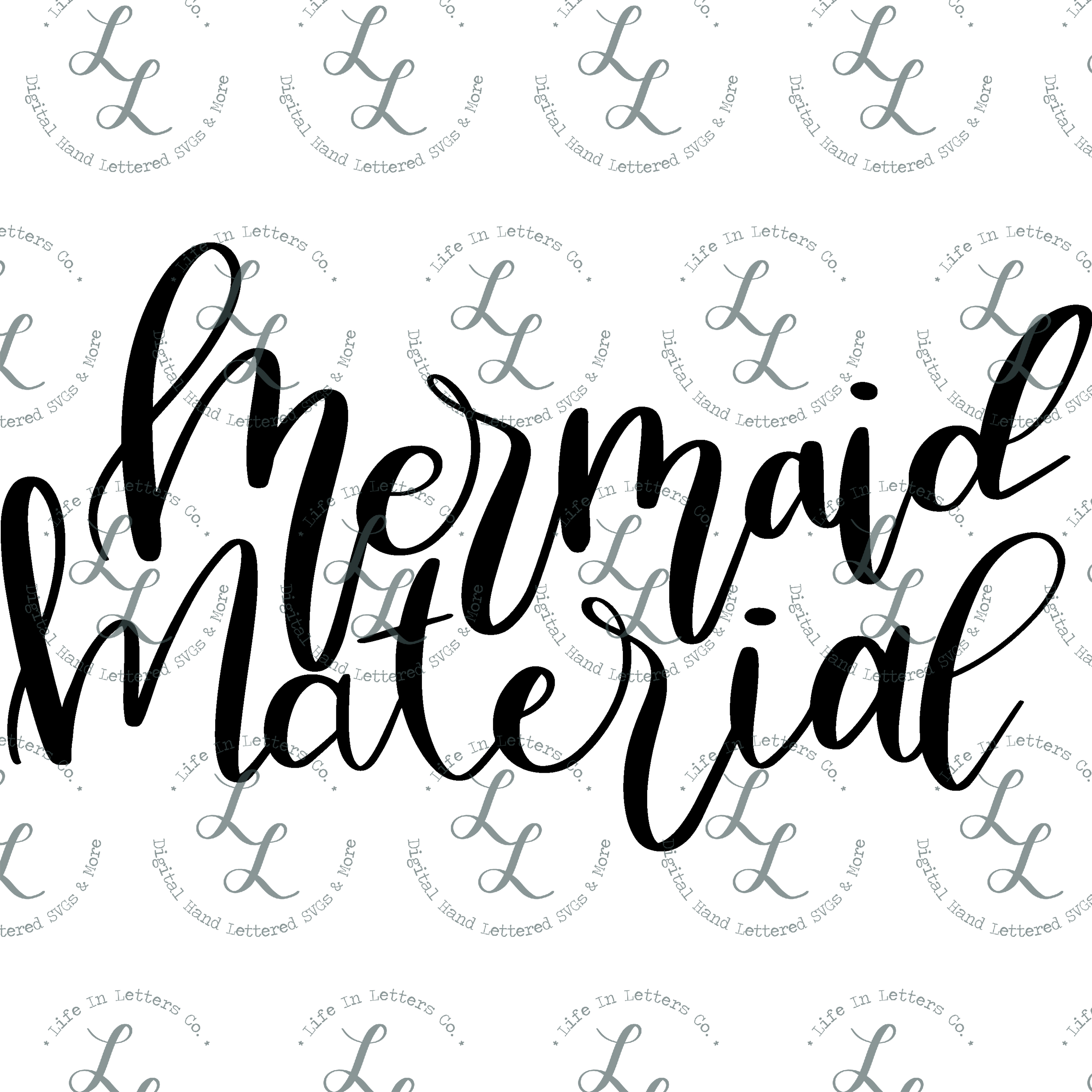 Mermaid Material - Cut File SVG png eps dxf example image 2