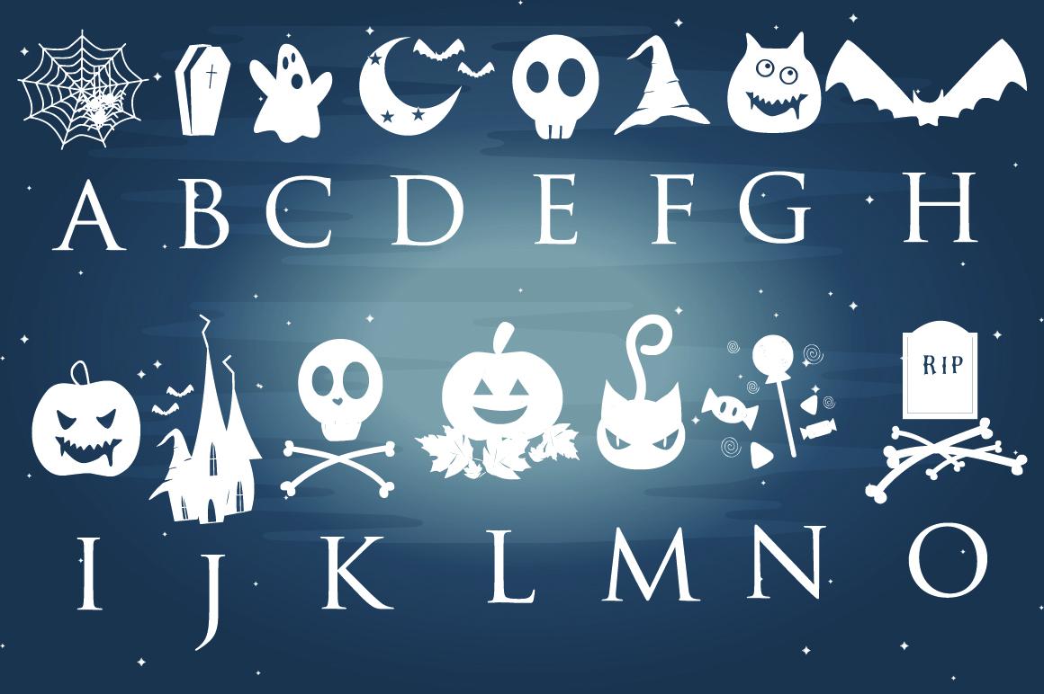 Halloween Dingbats Font example image 2