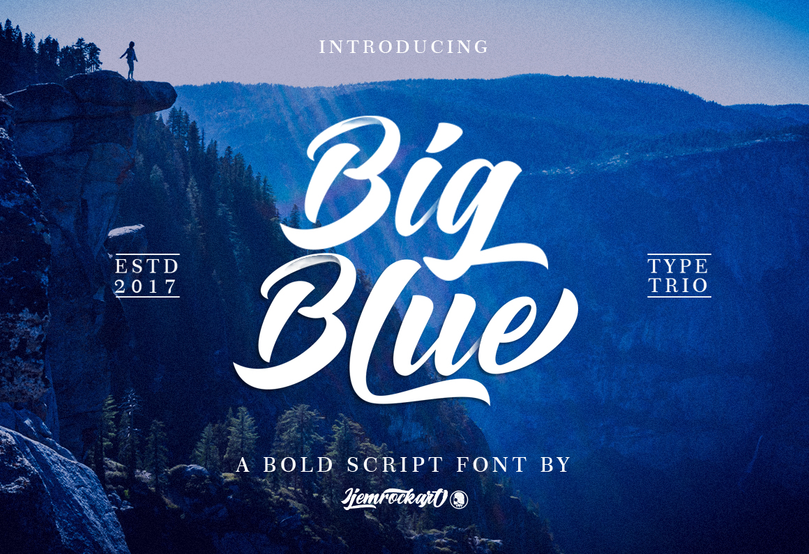 Big Blue Type Trio example image 1