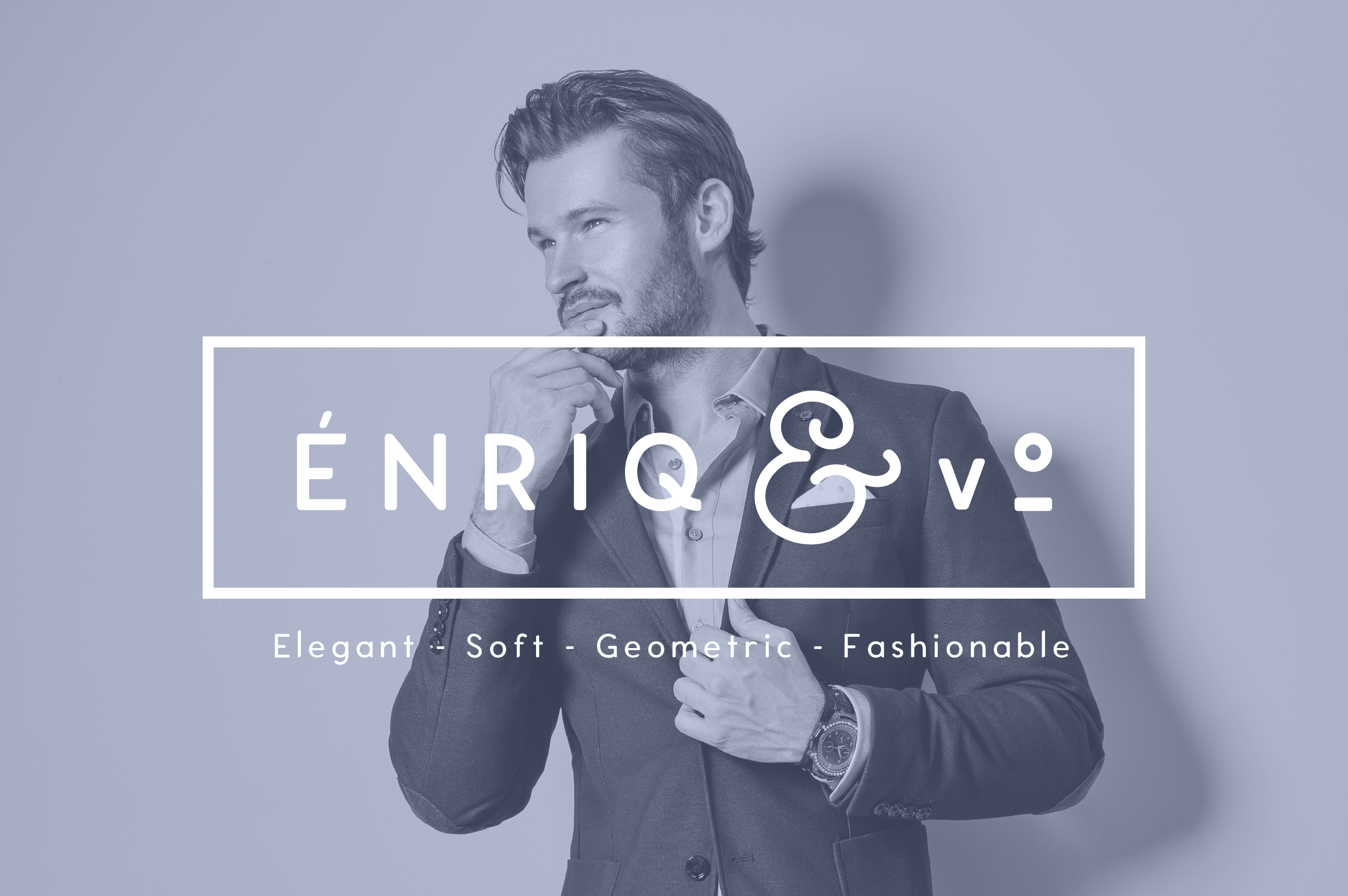 Enrique - 8 Fonts Fashionable Elegant Sans Serif Font example image 12