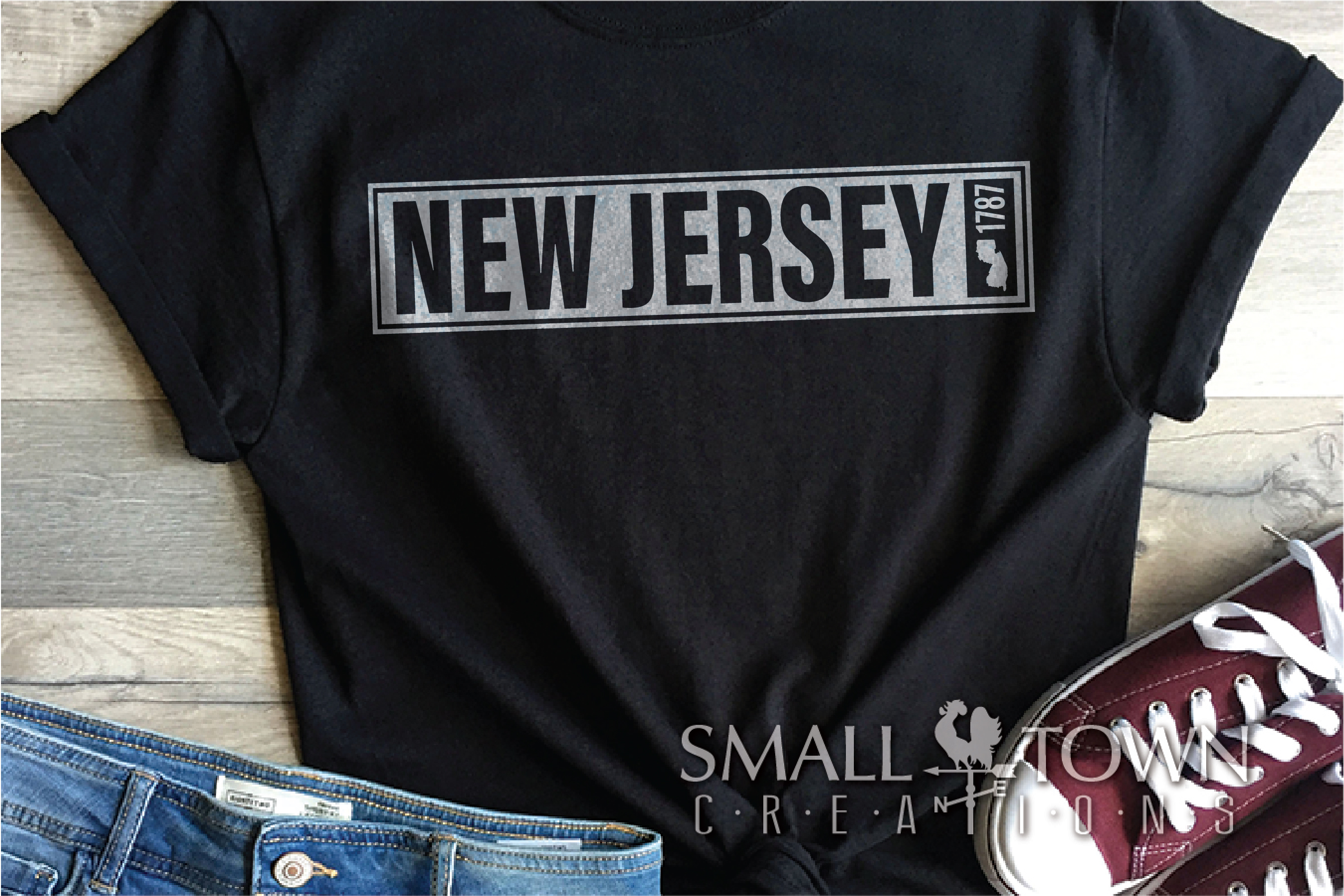 New Jersey, Garden State - slogan, PRINT, CUT & DESIGN example image 6