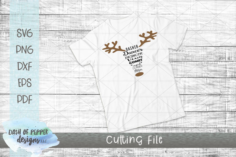 Reindeer Names SVG - A Christmas SVG example image 2