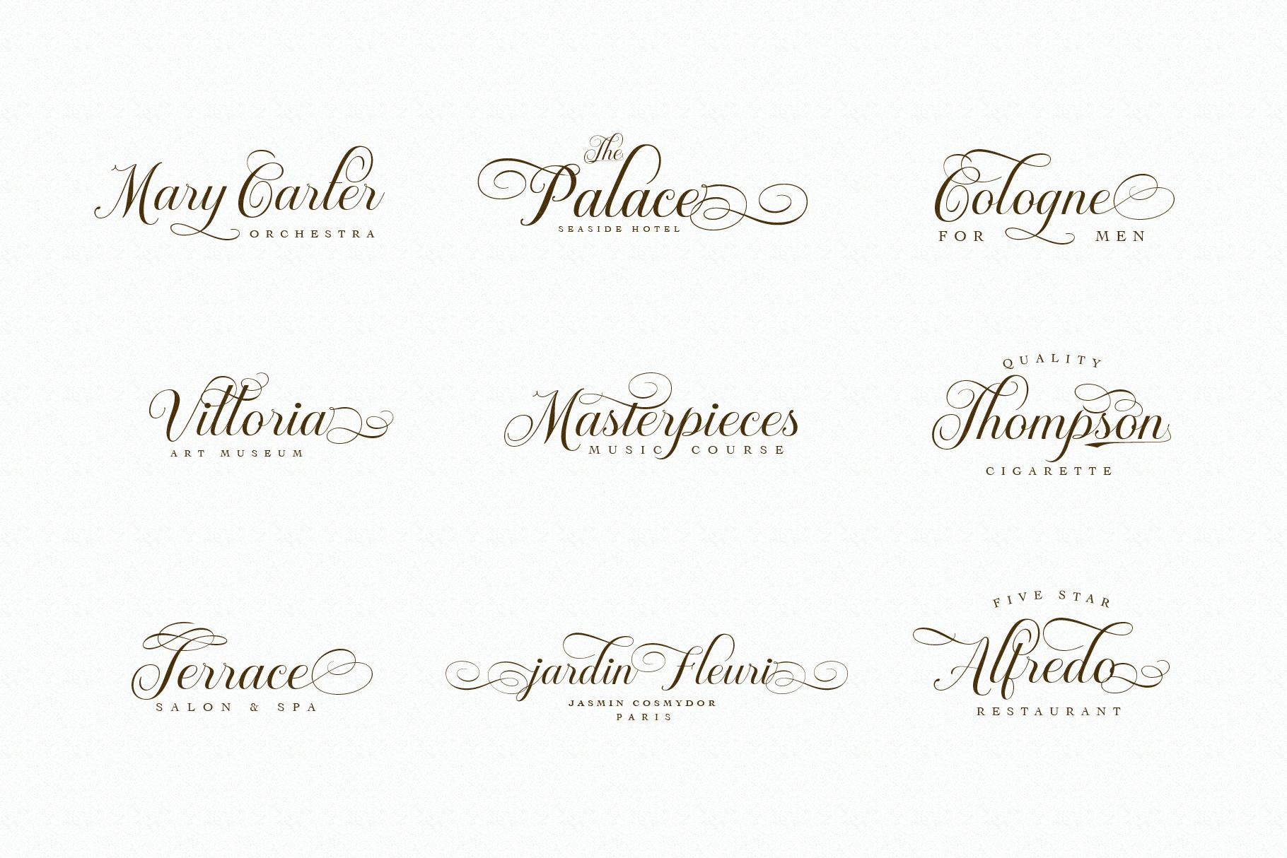 Brignola Elegant Calligraphy example image 10