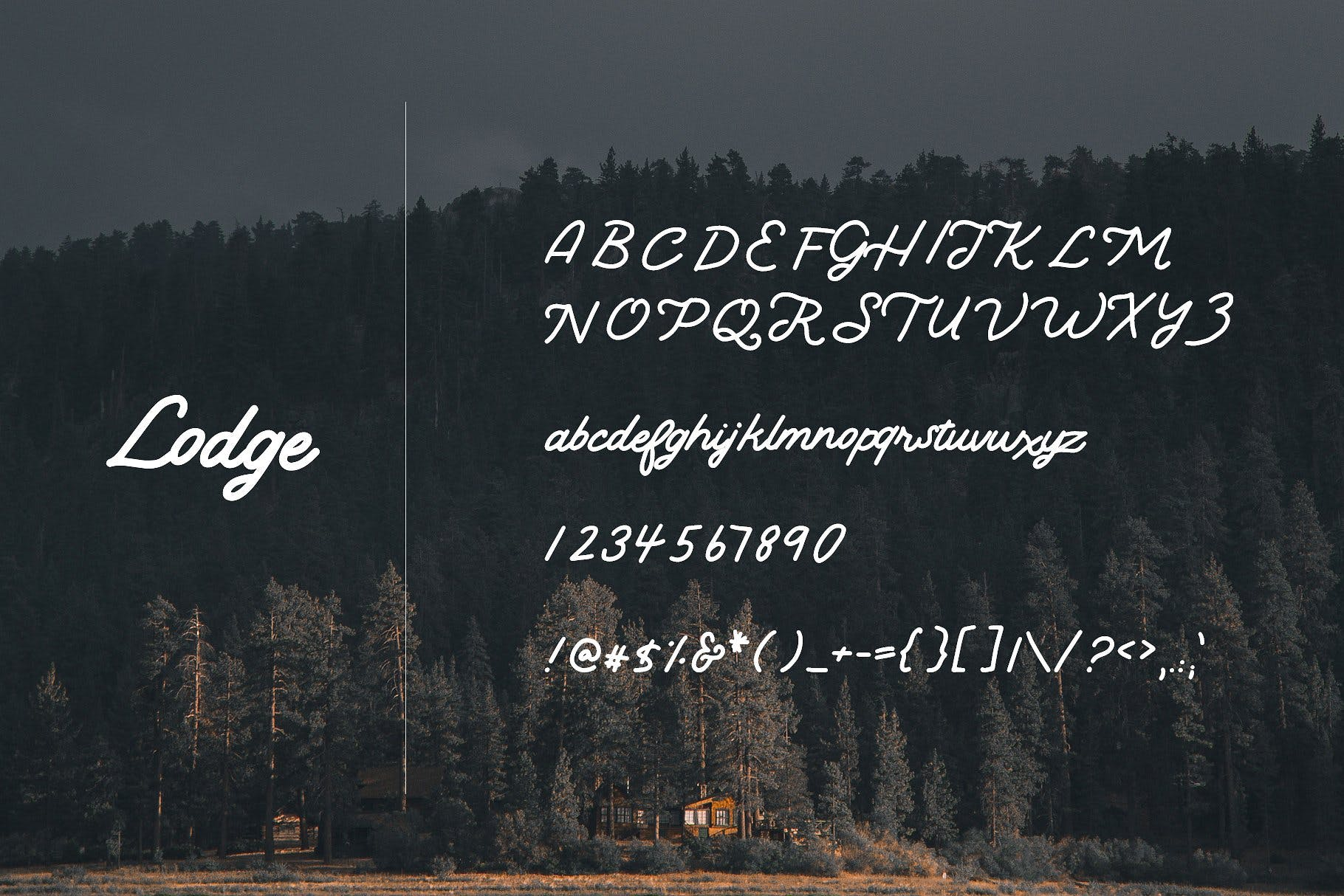 Lodge | A Rustic Script example image 4
