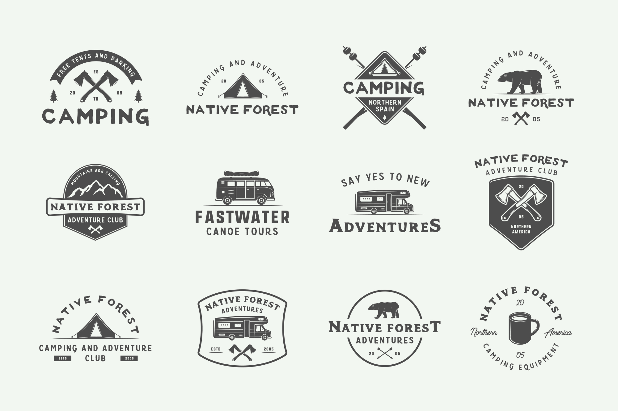 Camping and Adventure Emblems example image 6