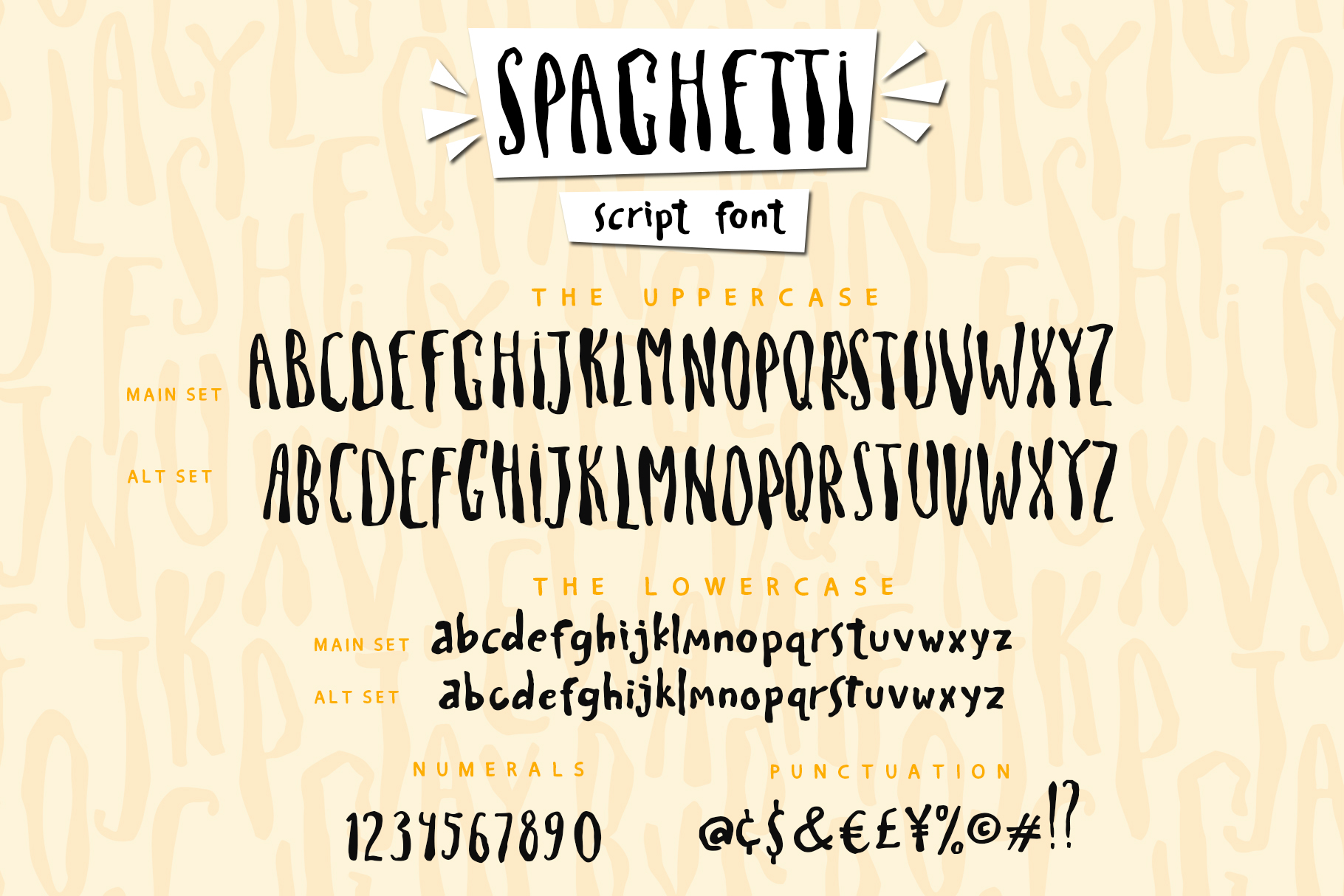 Spaghetti playful script font & Extras example image 10