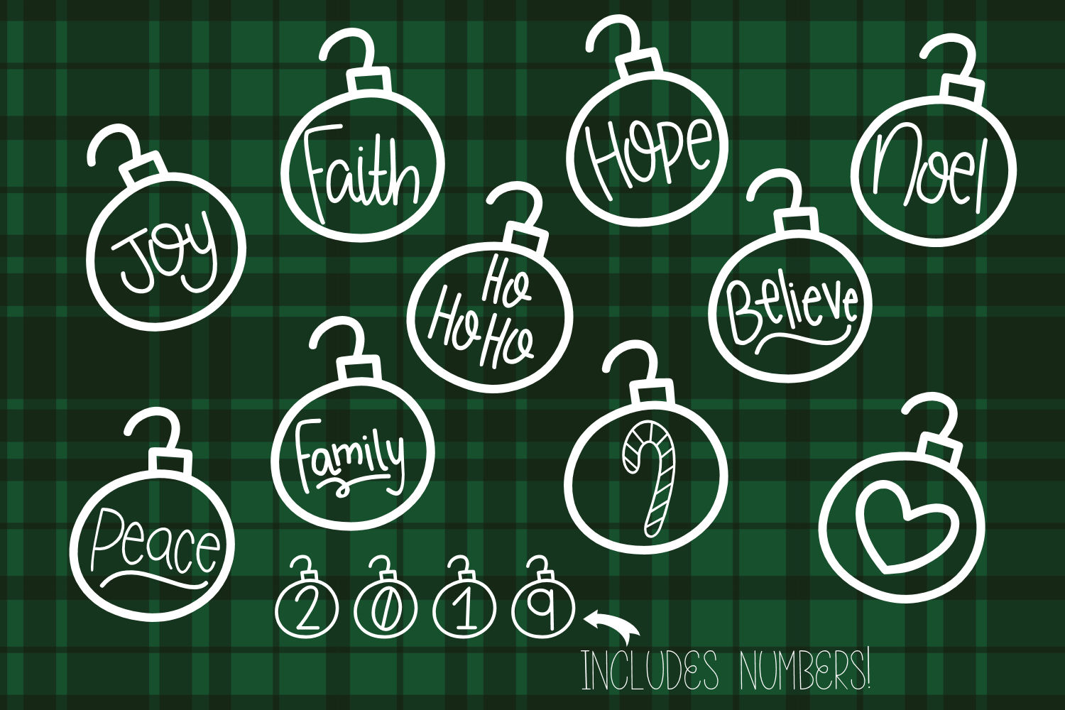 Christmas Baubles - A Christmas Decor Font example image 3