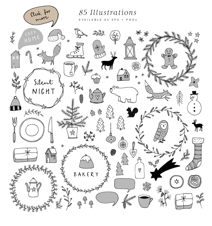 Snowy Christmas script font & logos example image 4
