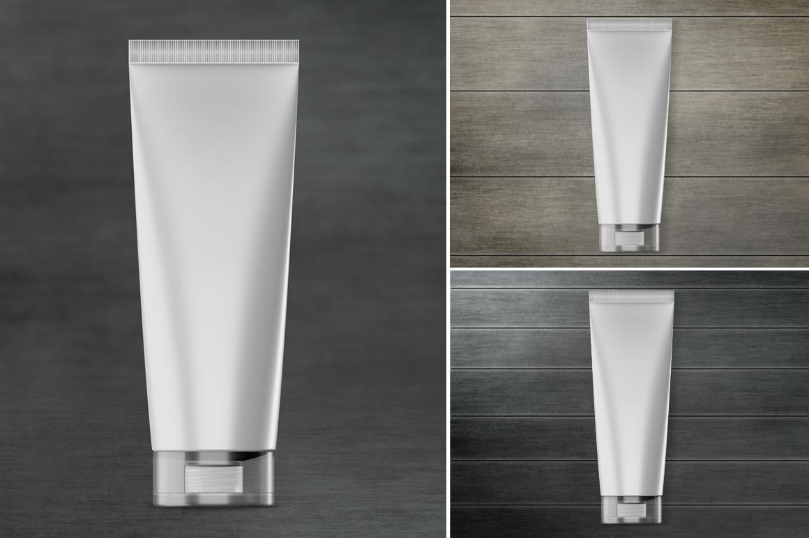 Cosmetic tube mockup. Transparent lid. Product mockup. example image 4