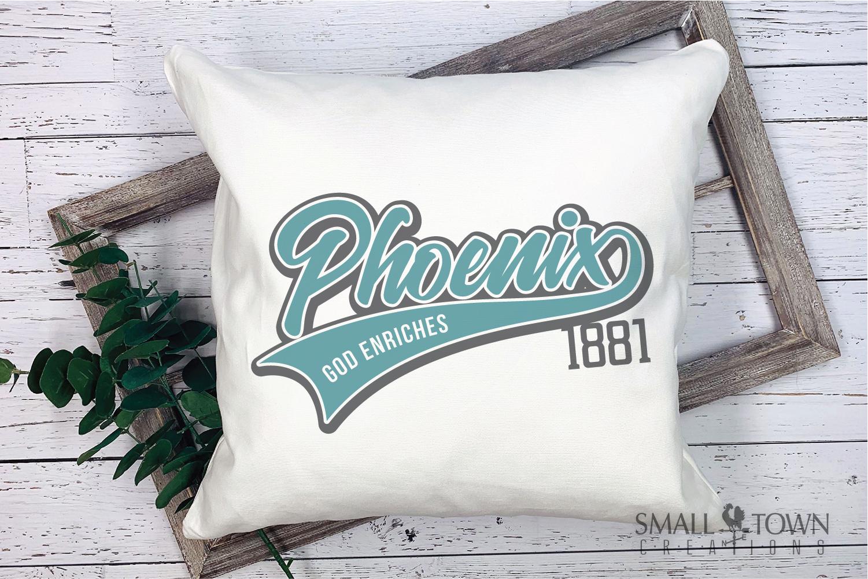 Phoenix, God Enriches - slogan, Arizona, PRINT, CUT & DESIGN example image 3