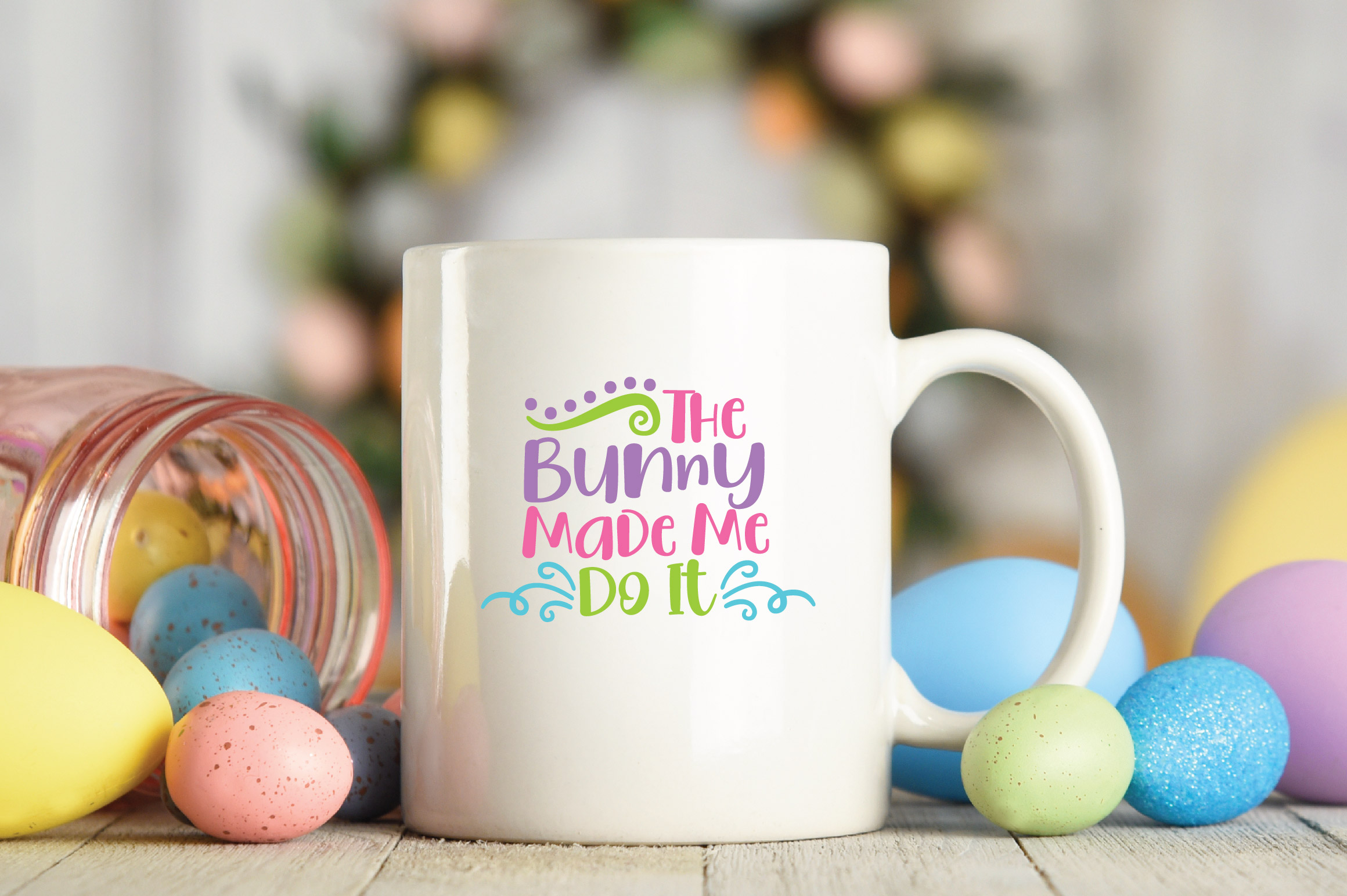 Easter SVG Cut File - The Bunny Made Me Do It SVG DXF EPS example image 4