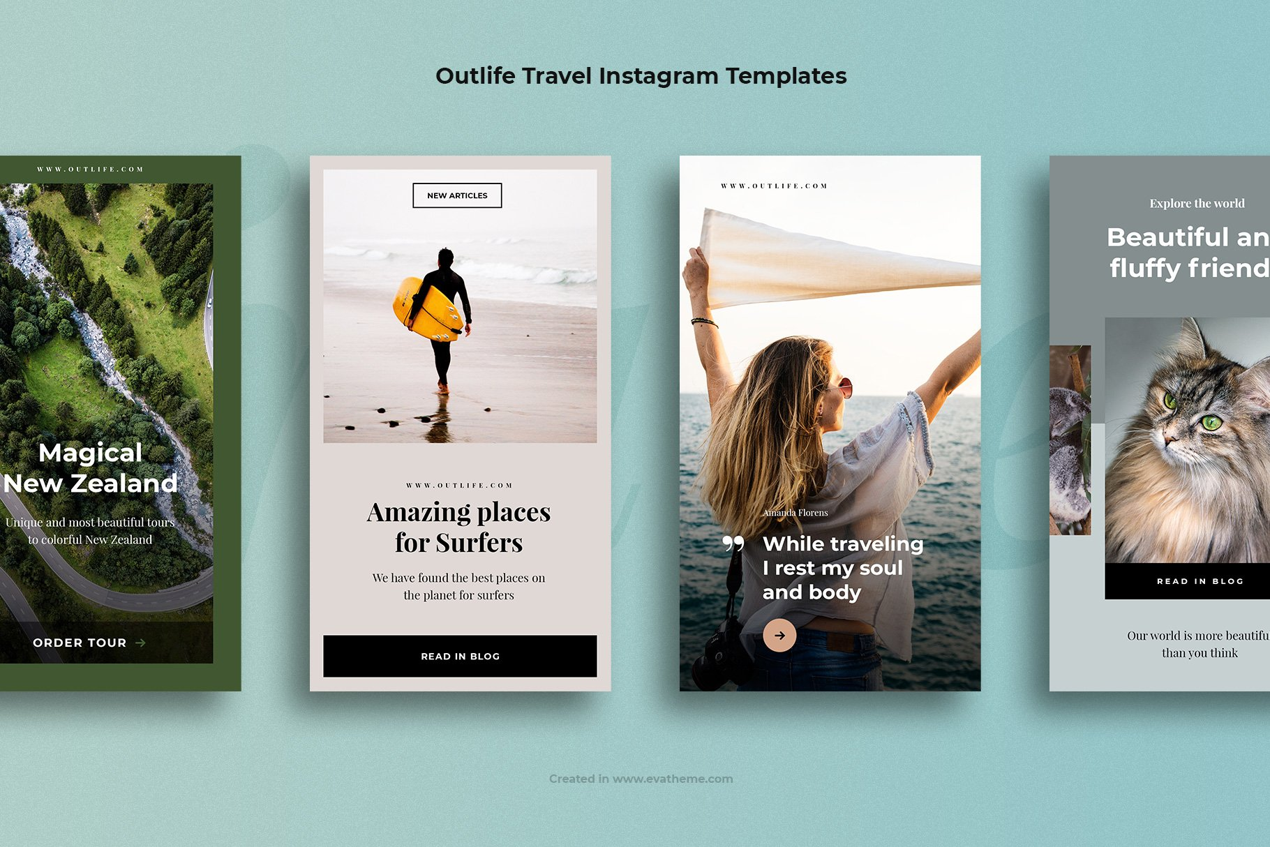 Outlife Travel Instagram Templates example image 2